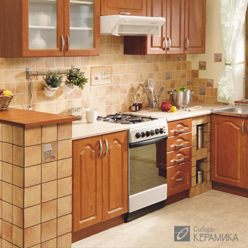 Плитка керамическая  для кухни CerKolor ( Вознаграждение 3% от объема продаж за складские остатки