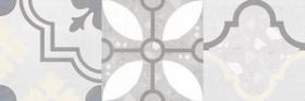 Плитка настенная Woody серый узор (25х75) купить