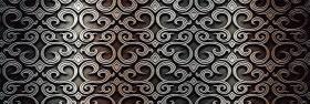 """Плитка облицовочная """"Кальяри"""" черный  декор (60х20) 00-00-5-17-01-04-379 купить"""