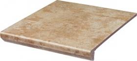 Клинкер ступень прямая с капиносом Ilario Beige Kapinos Stopnica Prosta структура (30x33)  купить