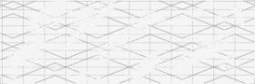 Вставка Trendy TY2U051 геометрия белый (25x75) купить