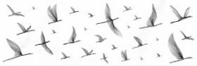 Вставка Elegance EG2U051 птицы белый (25x75) купить