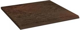 Клинкер ступень прямая структурная Semir Brown Stopnica Pro (30x30) 0,9 купить