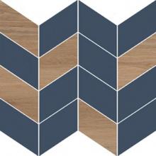Вставка Love You Navy O-LYN-WIE031 мозаика B сатиновая синий (29x29) купить