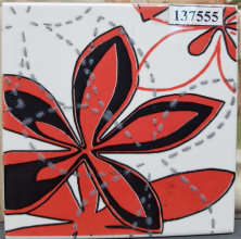 Декор Aplauz flower czerwony centro 2 (10х10) купить