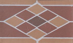 Мозаика-подступенник клинкерный Ромб 25*15 купить
