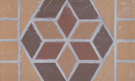 Мозаика-подступенник клинкерный Цветок 25*15 купить