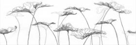 Вставка Elegance EG2U052 цветы белый (25x75) купить
