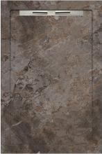Душевой поддон SLOPE GUSTO Taupe Grey line (80х120) 40080210550200 купить
