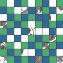 Мозаика ФИОРДИ зелено-голубая 1932-0009 (30х30) купить