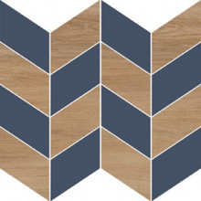 Вставка Love You Navy O-LYN-WIE032 мозаика A сатиновая синий (29x29) купить
