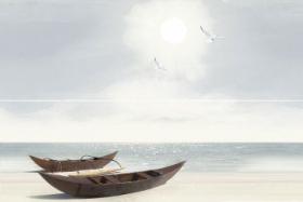 Панно Айленд Лодки из 2-пл PWU11ALD1 (40*60) купить