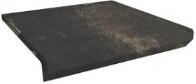 Клинкер ступень прямая с капиносом Scandiano Brown Kapinos Stopnica Prosta структура (30x33)  купить