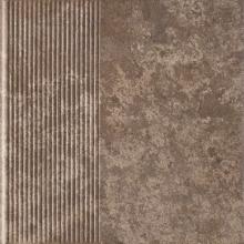 Клинкер ступень прямая структурная Ilario Brown Stopnica Prosta (30x30) 0,9  купить