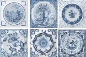 Декор Décor Mix Circle Classic Blue (10x10) купить