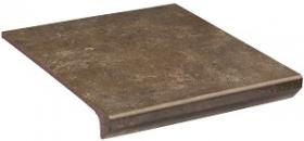 Клинкер ступень прямая с капиносом Ilario Brown Kapinos Stopnica Prosta структура (30x33)  купить