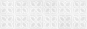 Плитка настенная Lissabon LBU053 рельеф квадраты белый (25x75) купить