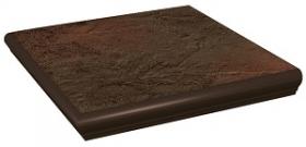 Клинкер ступень угловая с капиносом Semir Brown Kapinos Stopnica Narozna (33x33) 6шт. купить
