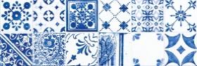 Плитка настенная декорированная MAJOLIKA голубая WARVE146 (20х60) купить