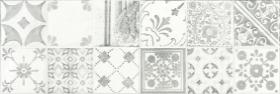 Плитка настенная декорированная MAJOLIKA серая WARVE147 (20х60) купить